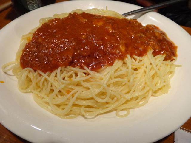 じつはさんきちのミートスパゲティーも隠れた名品なんです。