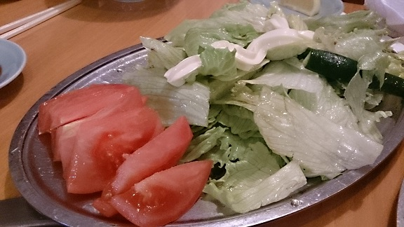 昔は元山サラダは時価だったんです。