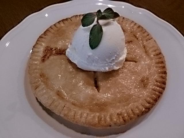 このアップルパイは最高ですよ。